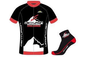 Challenge Radsocken von Eleven und Challenge Trikot von GSG