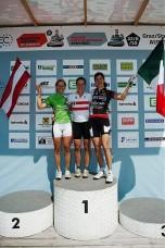 Das Damen-Podium der 88 km-Strecke